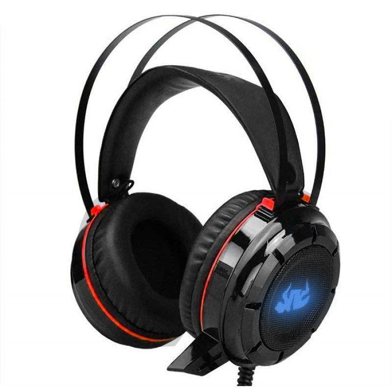 Headset Knup KP-417 Gamer 7.1 Usb P2 Pc Com Fio Bass Vibration Vermelho