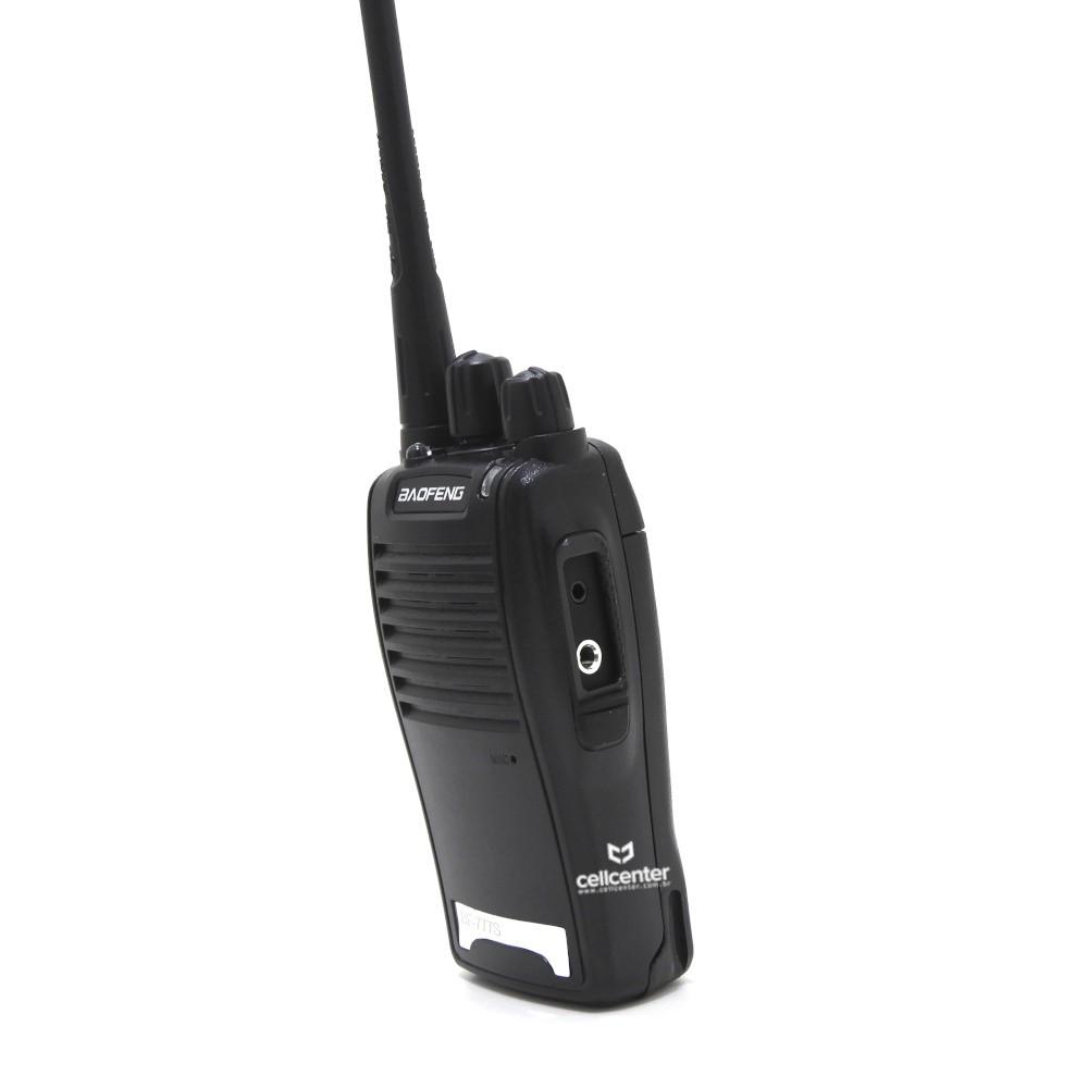 Kit com 2 Rádios de Comunicação  V16 canais completos até 3km Walkie Talkie Bf-777s Ht Baofeng