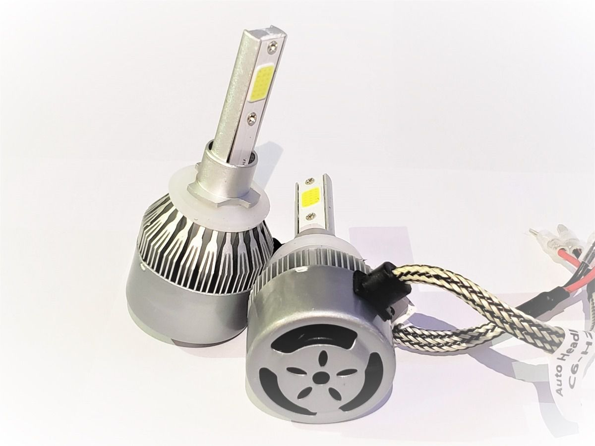 Lâmpada Super LED Automotiva 7600 Lúmens H1 H3 H4 H7 H8 H9 H11 HB3/9005 HB4/9006 Knup KP-HLC6/HLS2