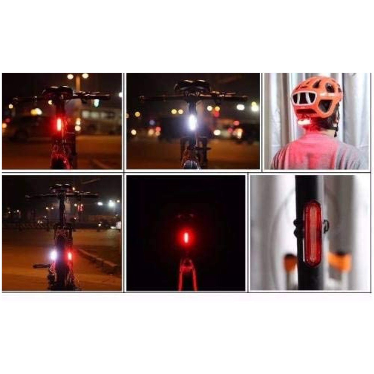 Lanterna Farol Traseiro Bicicleta Recarregável Led AQY-096