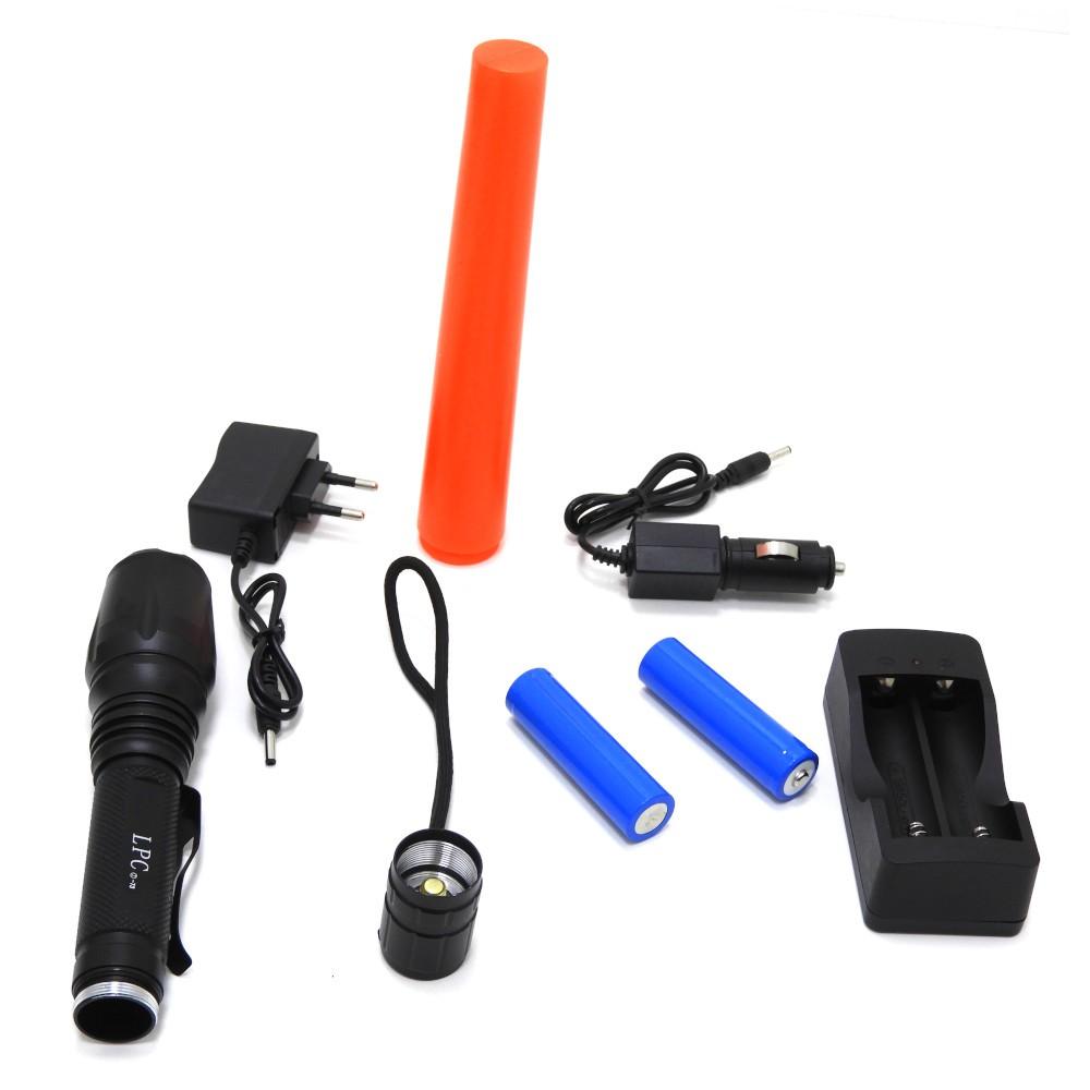 Lanterna Tática Militar 116000 Lumes com Bateria 9900mAh