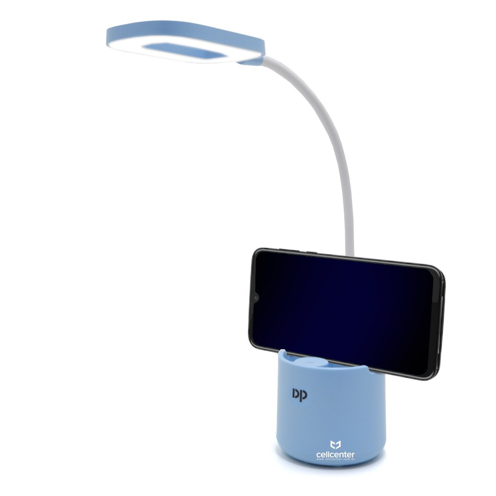 Luminária Abajur Touch Sem Fio 3 Níve Luz Haste Flexível DP-6046