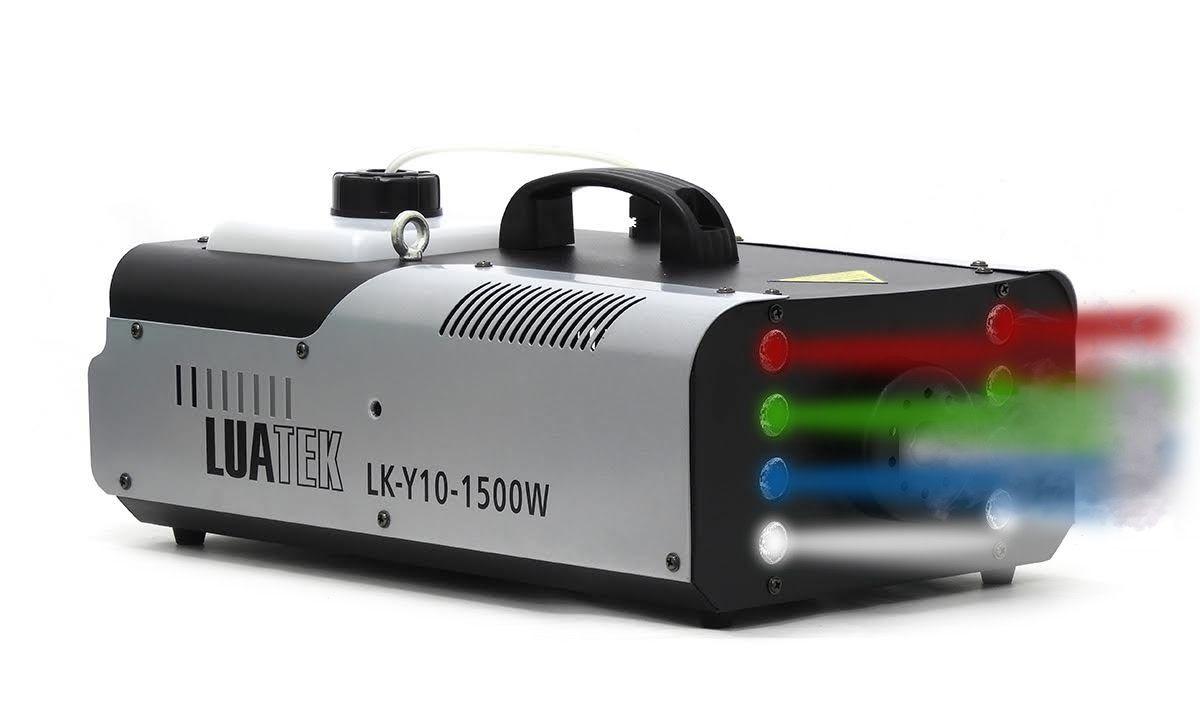 Maquina de Fumaça 1500W 8 Leds RGBW LUATEK LK-Y10