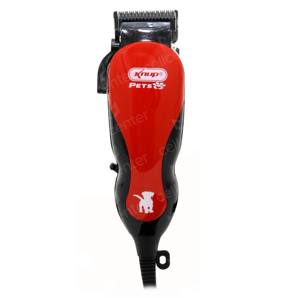 Maquina de tosa Alta eficiência baixo ruído 127V Knup QR-PET2508 - Vermelho