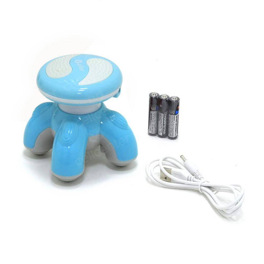 Massageador Corporal Portátil Silencioso 25W Aiker AM-002 Azul