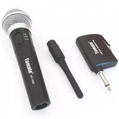 Microfone Profissional Sem Fio Tomate MT-1002
