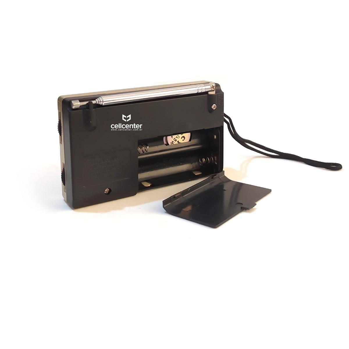 Mini Rádio de Bolso AM/FM 2 Pilhas Lelong LE-651