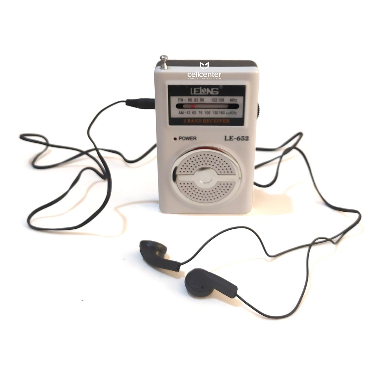 Mini Rádio de Bolso AM/FM 2 Pilhas Lelong LE-652