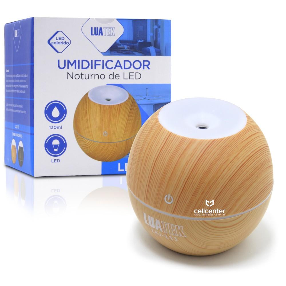 Mini Umidificador de Ar com LED Madeirado Luatek - LKJ-111