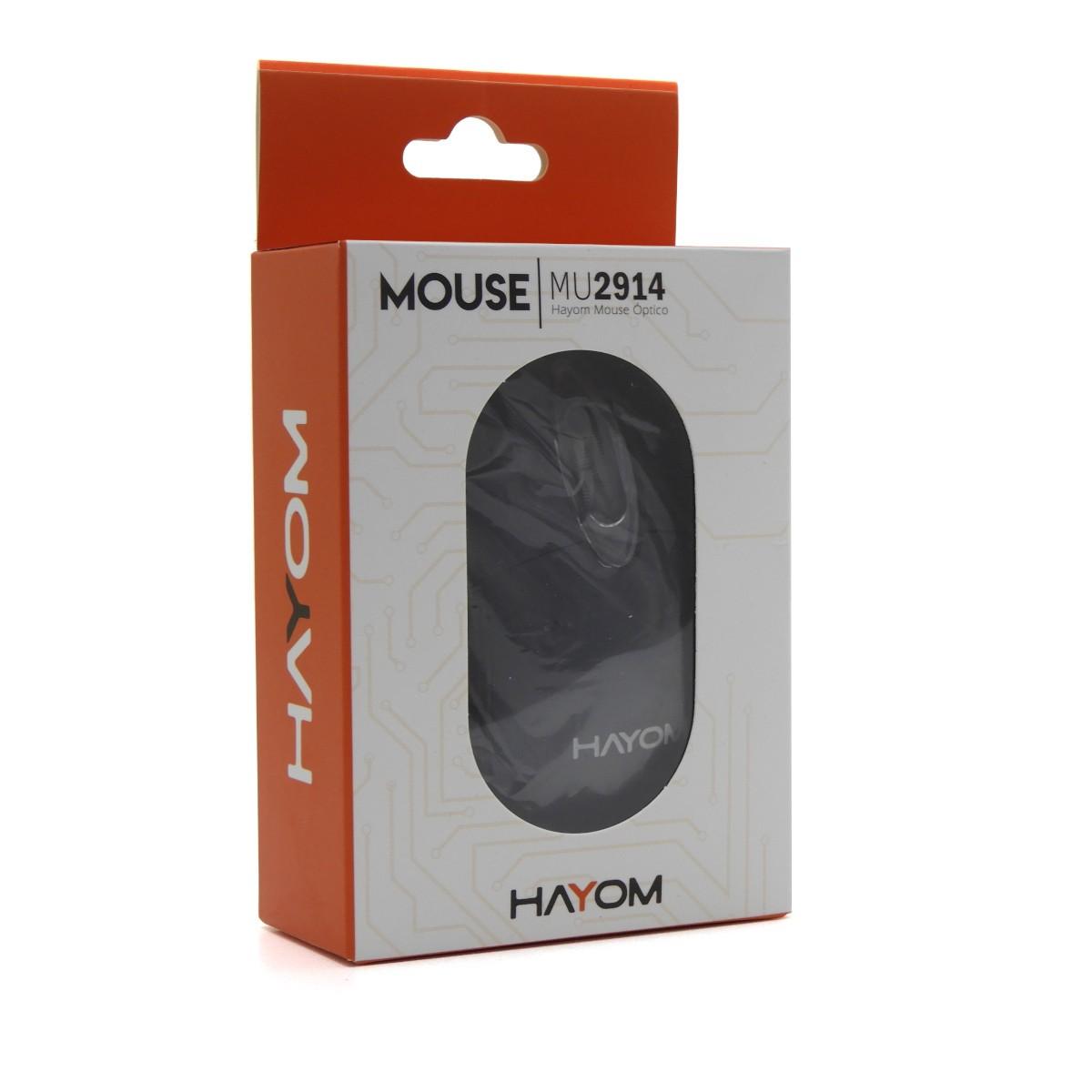 Mouse Óptico com fio 1,2m 1200DPI LED Hayom MU2914
