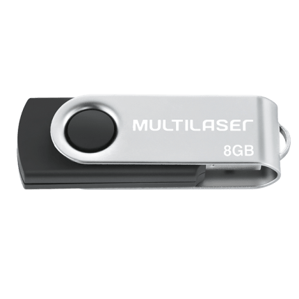 Pen Drive Twist USB 2.0 8GB 10 Anos de Garantia Multilaser PD-587
