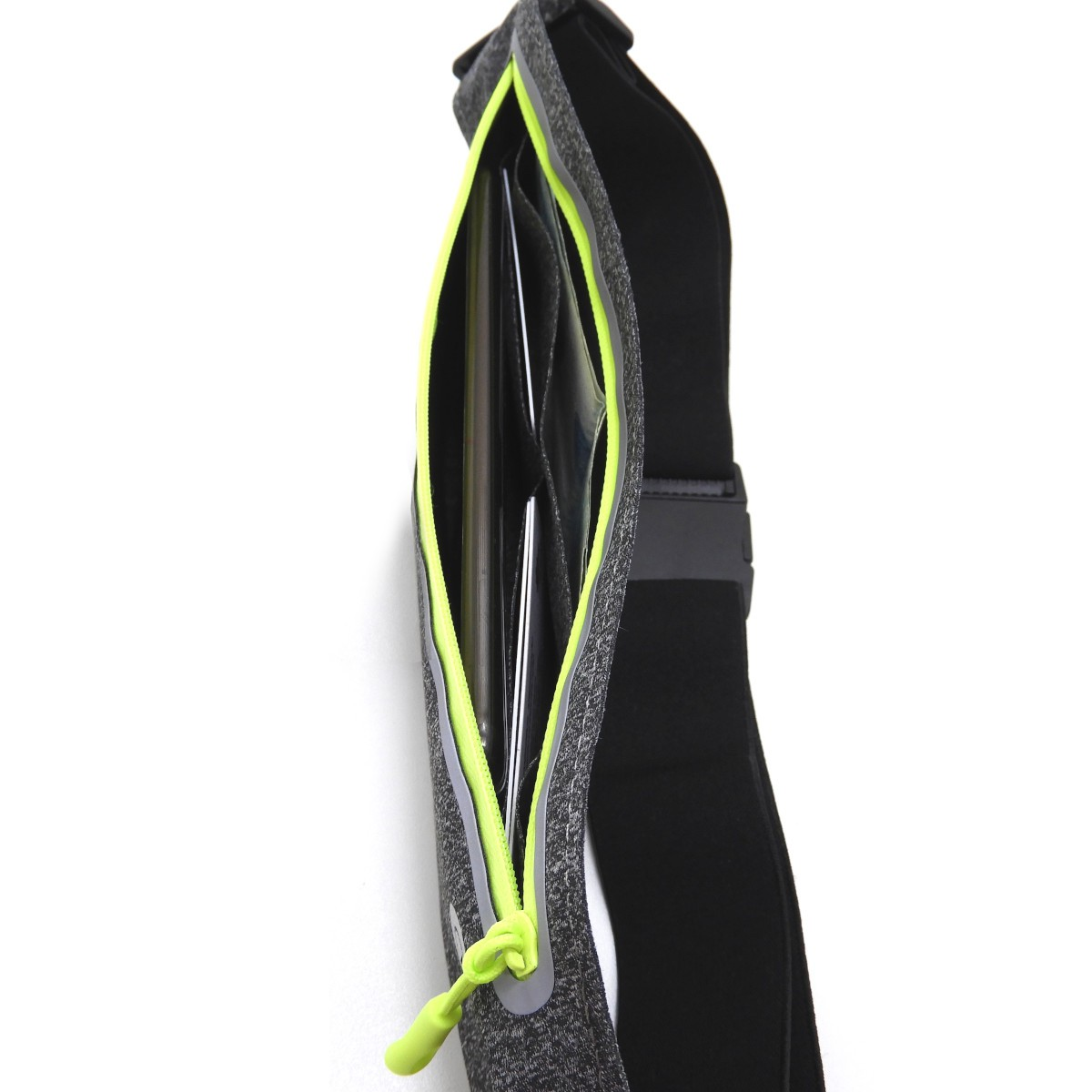 Pochete esportiva Ultra Slim Impermeável para Celular até 6.3 polegadas Kimaster AR80 Cinza