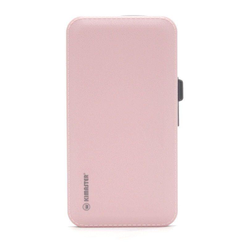 Power Bank Slim USB 10000mAh Com Cabo Embutido KIMASTER E622 Rosa