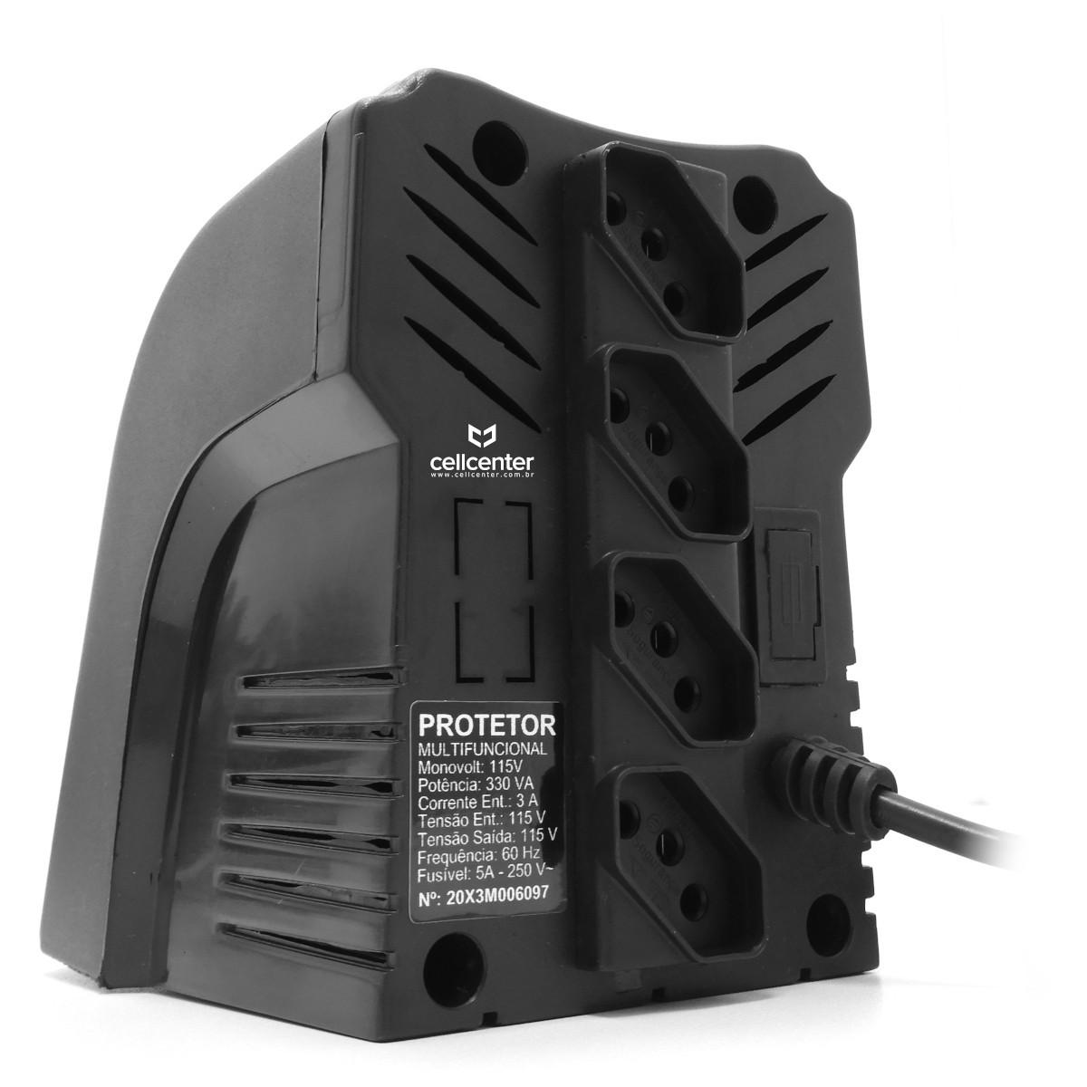 Protetor de Corrente elétrica Multifuncional 4 Tomadas Involts