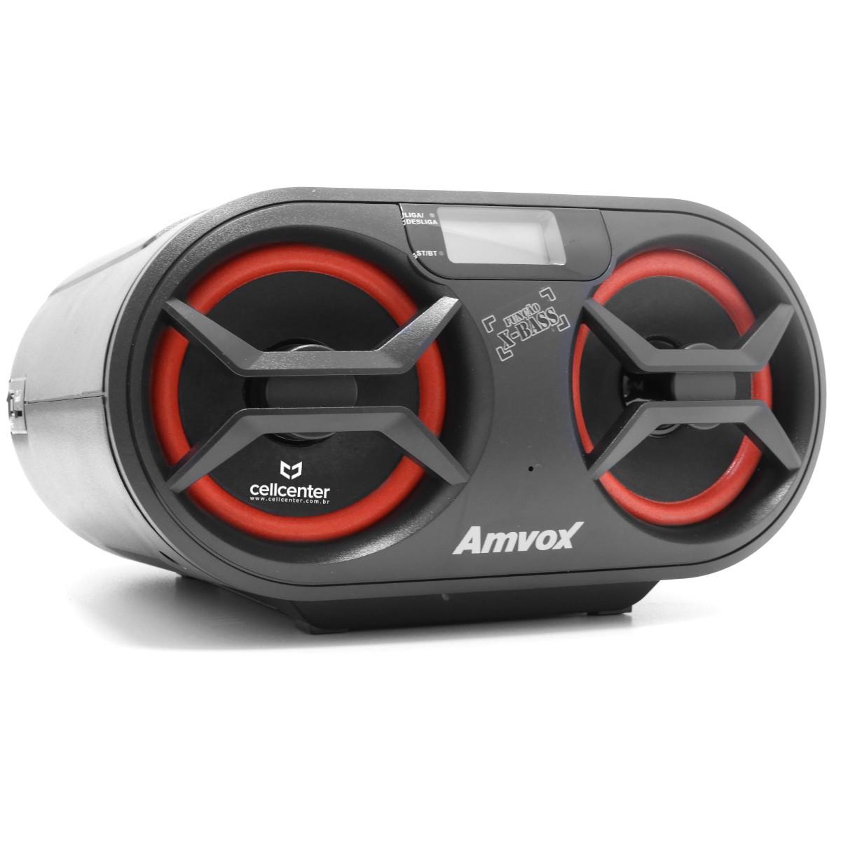 Rádio Portátil Boombox Som Cd Mp3 Player Usb Sd Fm Am Bluetooth Bivolt Amvox AMC-590 New