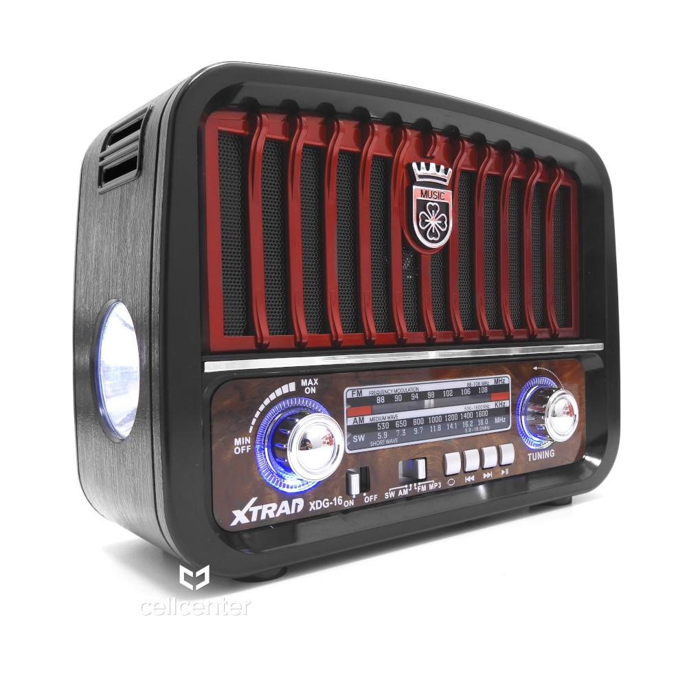 Radio Retrô Portátil Bluetooth AM/FM USB TF Xtrad XDG-16
