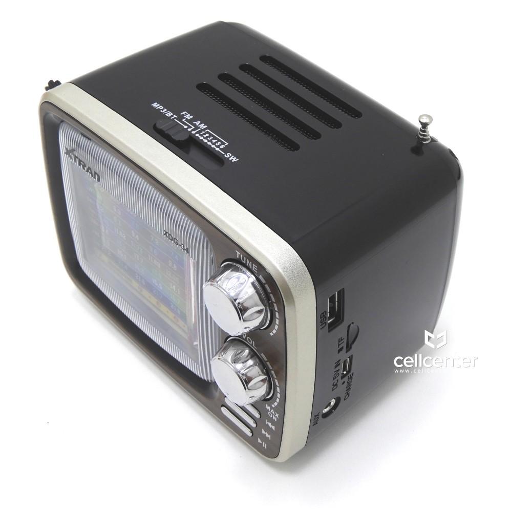 Radio Retrô Portátil Bluetooth AM/FM USB TF Xtrad XDG-34