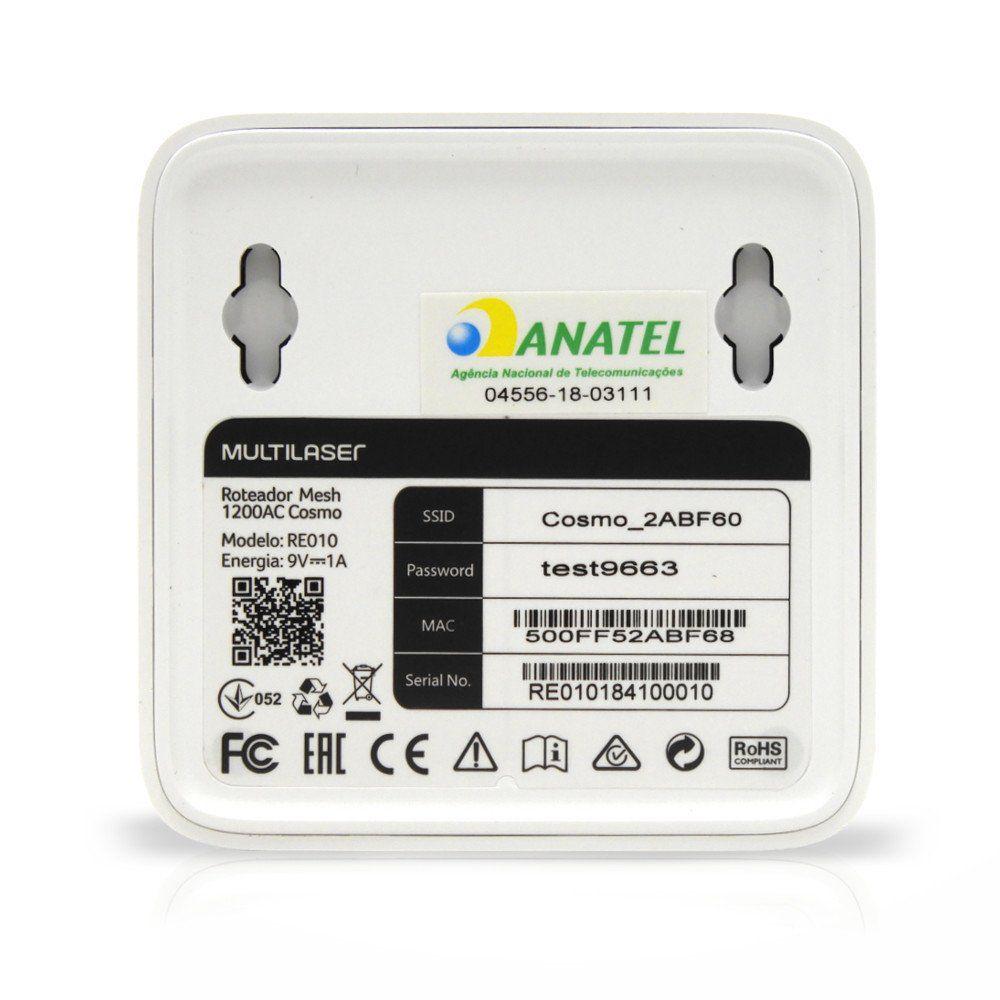 Roteador Cosmo Mesh Wi-Fi Dual Band Multilaser AC-1200