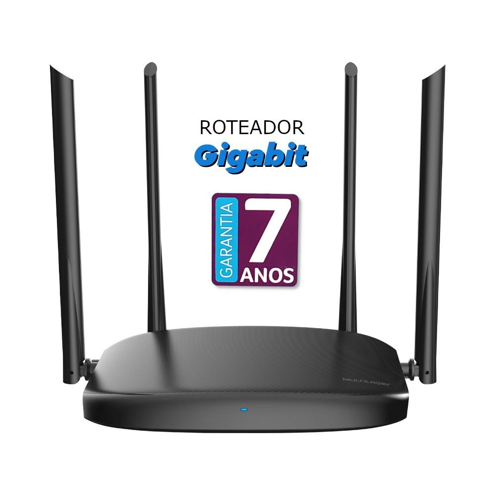 Roteador Multilaser Wireless Gigabits 4 Antenas - Multilaser RE015