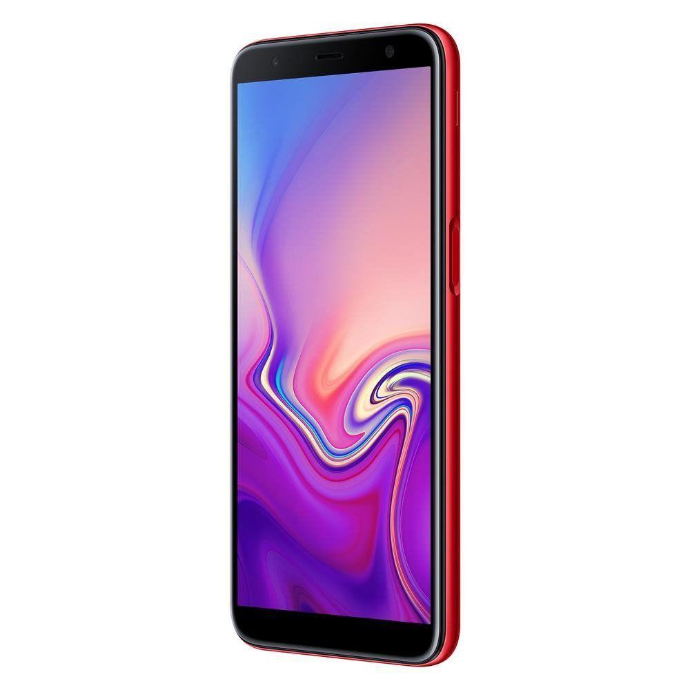 Smartphone Samsung Galaxy J6 Plus 32GB 3GB RAM Tela infinita de 6 Dual Câmera 13MP 5MP - Vermelho