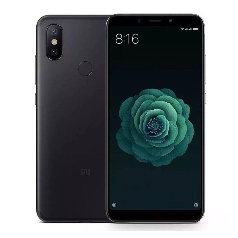 """Smartphone Xiaomi Mi A2 5.99"""" 4GB RAM 64GB Câmera 20.0MP + 12.0MP Câmeras traseiras duplas Android 8.1 - Preto Com Película"""