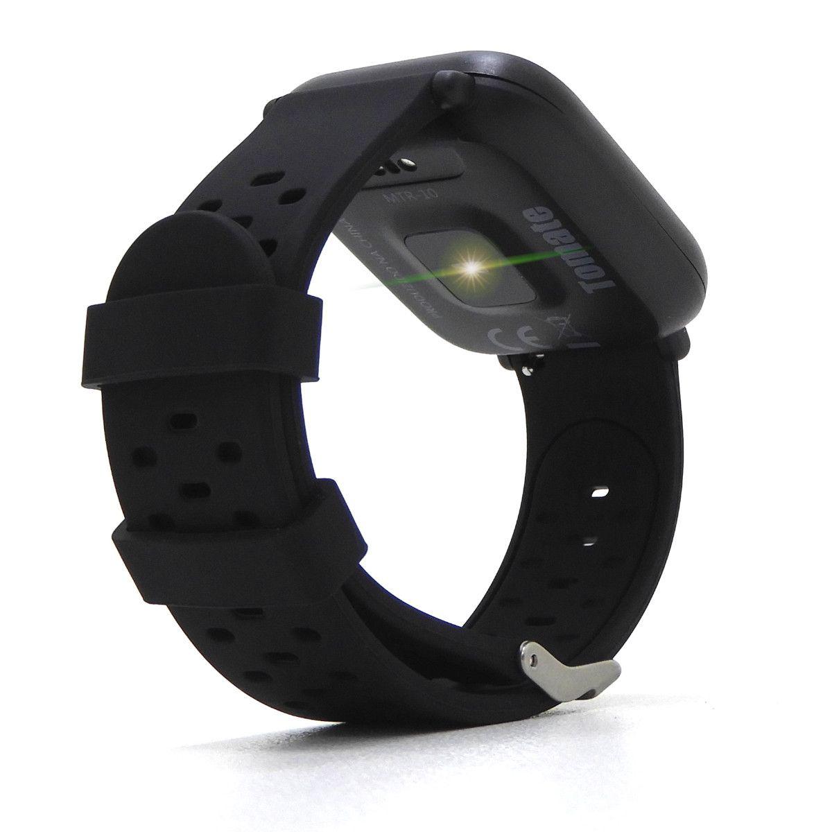 Smartwatch Para IOS e Android Multifunções Tomate MTR-10 - Preto