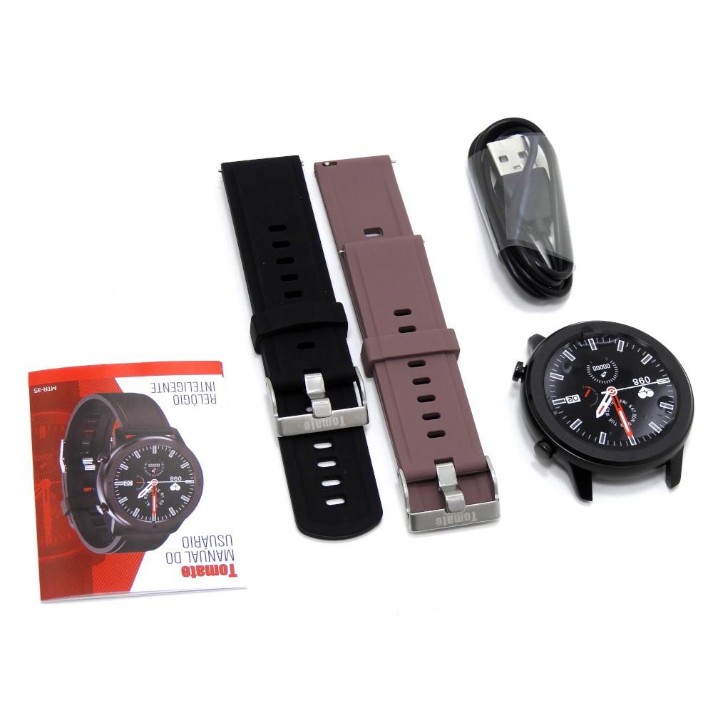 Smartwatch MTR-35 Para IOS e Android Multifunções - Preto