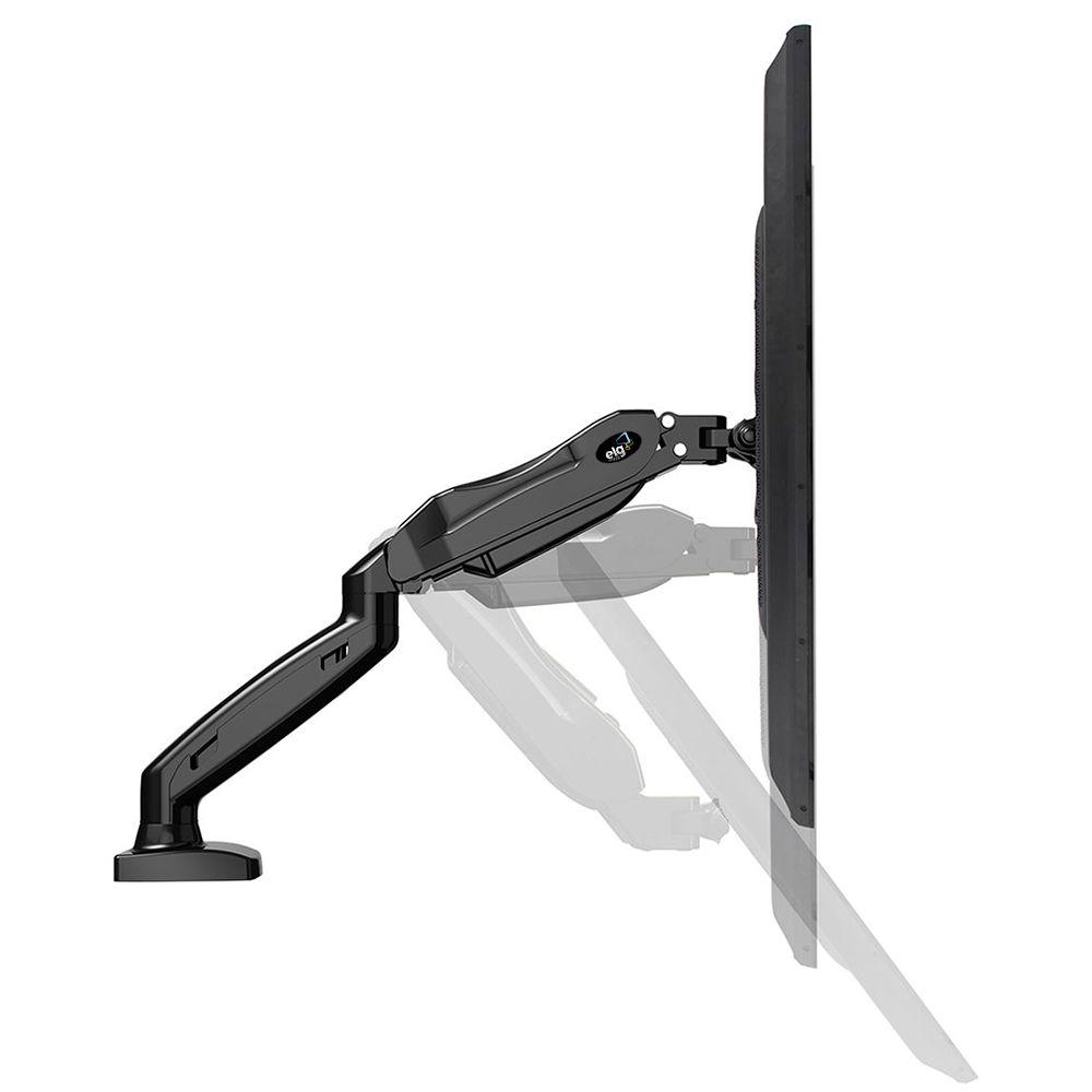 """Suporte Articulado de Mesa para Monitores 17"""" a 27"""" com Pistão a Gás e Ajuste de Altura - F80N ELG + Brinde Cabo HDMI 0,5m"""