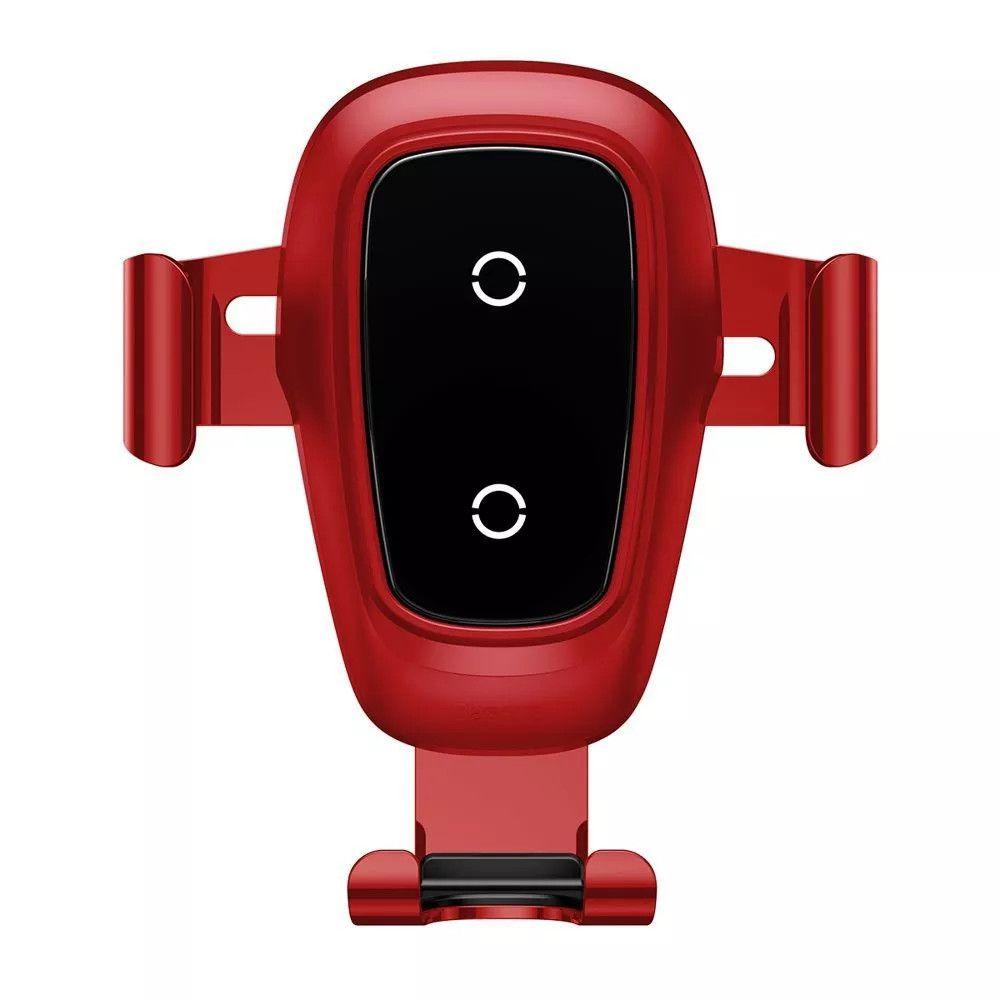 Suporte Carregador Veicular Indução Wireless 10W Fast Charger para Carro Baseus Gravity Qi WXYL-B09/A/S