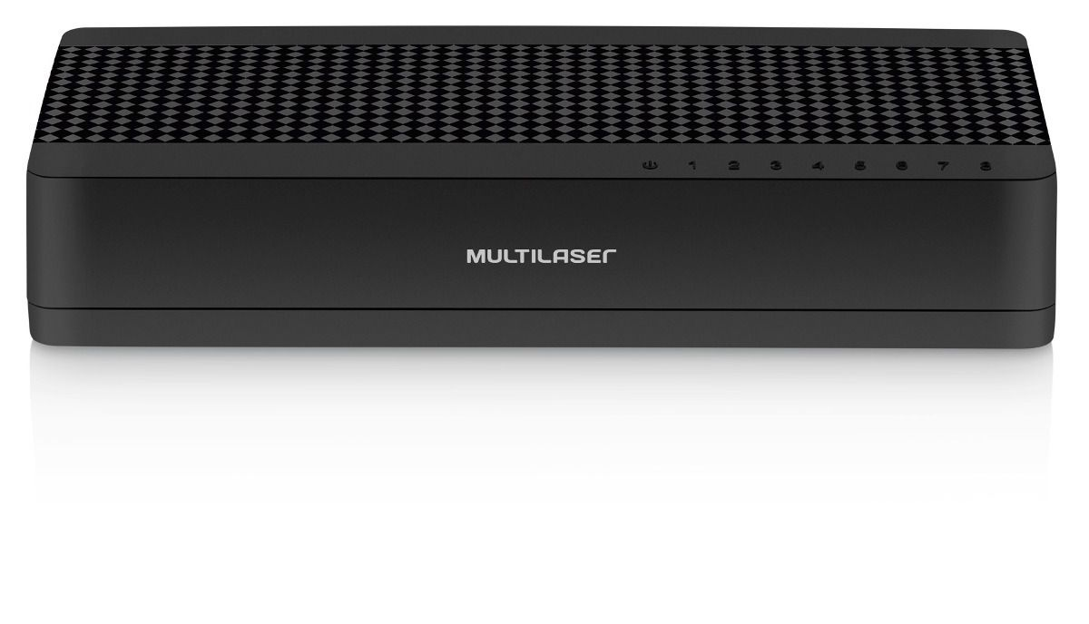 Switch Internet 5 Portas Multilaser 10 / 100 Mbps Suite