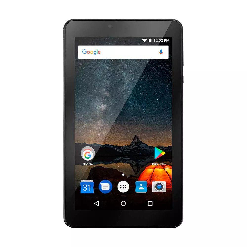 "Tablet M7S Plus Android 7.0 Memória Interna de 8gb Câmera de 2.0mp Wi-fi, Tela de 7"" Preto NB273 - Multilaser"