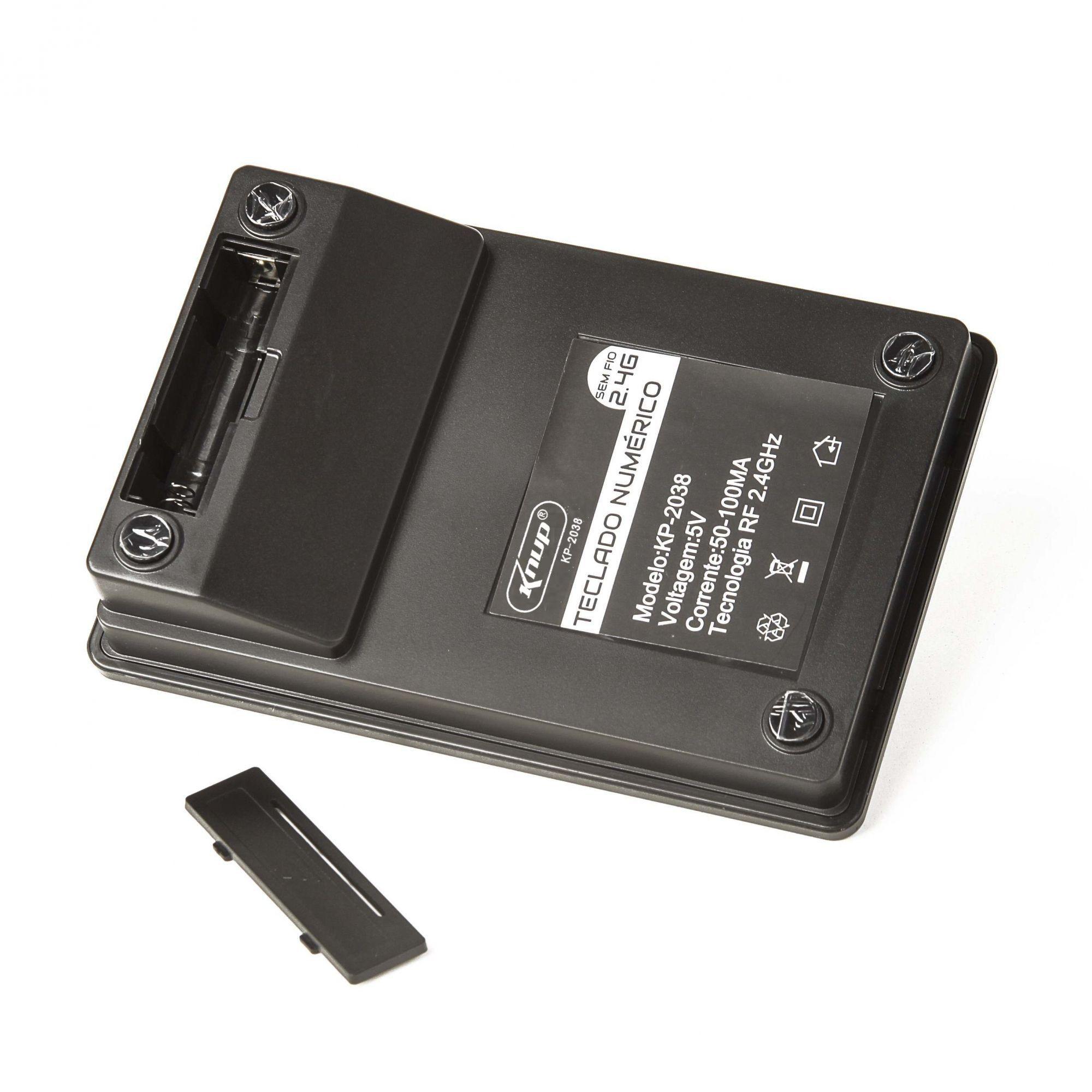 21 Teclado Numérico Wireless 2.4 Knup KP-2038