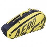 Raqueteira Babolat Holder X6 Pure Aero - Preta e Amarelo TÉRMICA