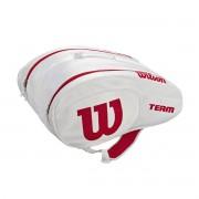 Raqueteira Wilson ESP Team Padel Beach Tennis Branca Vermelha