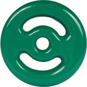 Anilha Emborrachada  10 kg - Verde