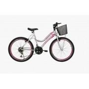 Bicicleta Athor Musa Aro 24 - Branca Rosa