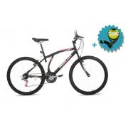 Bicicleta Houston Atlantis Mad Aro 26 - Preta Fosco + Brinde Cadeado