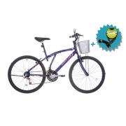 Bicicleta Houston Bristol Lance Aro 26 - Violeta Fosco + Brinde Cadeado
