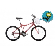 Bicicleta Houston Bristol Peak Aro 24 - Vermelha Fosca + Brinde Capacete Rava
