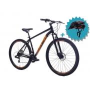 Bicicleta Houston Kamp Aro 29 Kit Shimano + Freio a Disco + Brinde Capacete Rava