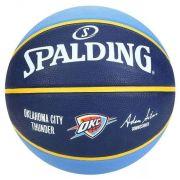 Bola de Basquete Spalding NBA Oklahoma City Thunder - Azul Claro e Marinho