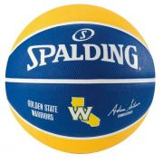 Bola de Basquete Spalding NBA Time Golden State Warriors - Azul e Amarelo
