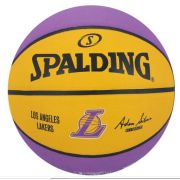 Bola de Basquete Spalding NBA Time Los Angeles Lakers   - Roxo e Amarelo