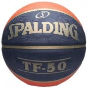 Bola de Basquete Spalding TF-50 CBB - Azul Marinho/Laranja
