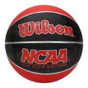 Bola de Basquete Wilson Mini NCAA - Preto e Vermelho