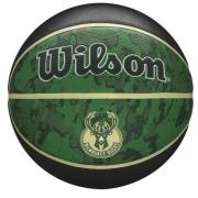 Bola de Basquete Wilson NBA Team Tiedye Bucks - Preto/Verde