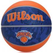 Bola de Basquete Wilson NBA Team Tiedye Knicks - Azul/Laranja