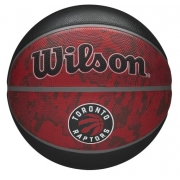 Bola de Basquete Wilson NBA Team Tiedye Toronto Raptors - Vermelho/Preto
