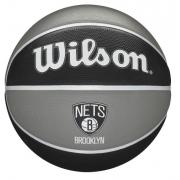 Bola de Basquete Wilson NBA Team Tribute  Brooklyn - Preto/Cinza