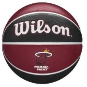 Bola de Basquete Wilson NBA Team Tribute Heat - Preto/vermelho